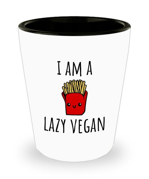 Funny Vegan Shot Glass