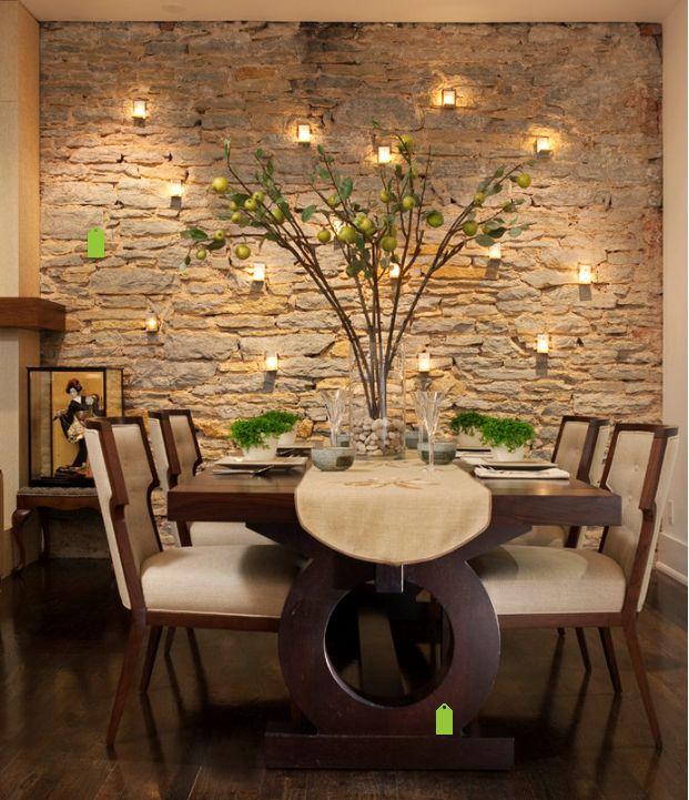 la iluminacin es un factor muy importante que har destacar an ms una pared revestida en
