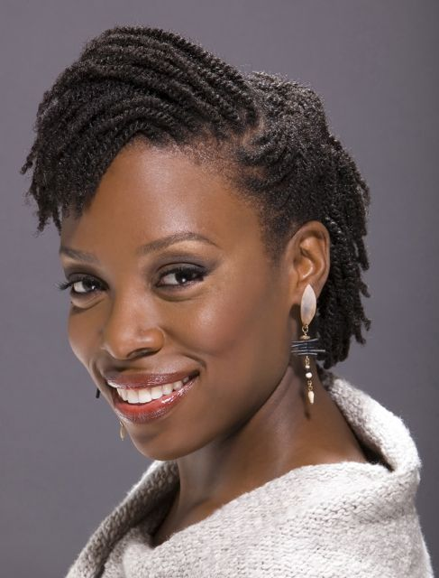Two Strand Twist with model's own hair #naturalhair ...