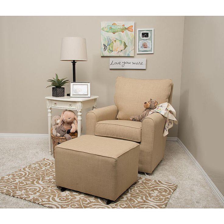 this kacy collection madison swivel glider from little castle furniture has lumbar and head support
