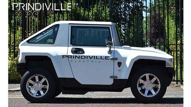 MEV Electric HUMMER HX with Prindiville, MEV's UK distributor marketing