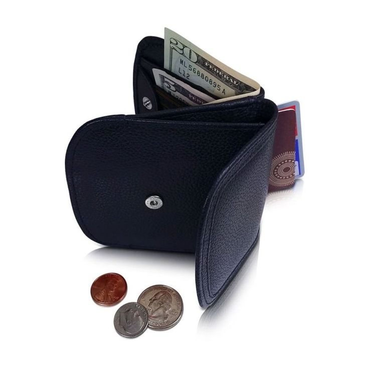 Taxi Wallet Men's BLK CANYON Italian LEATHER Minimalist Front Pocket