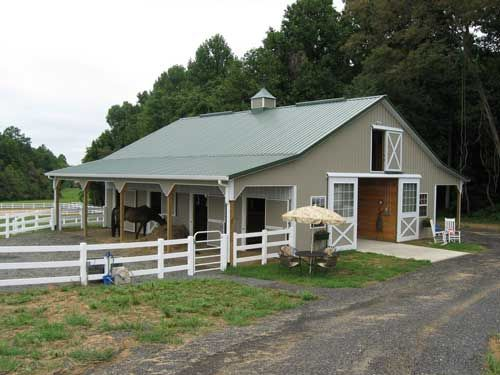Best 25 horse barns ideas on pinterest dream barn for Farm shed ideas
