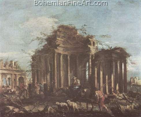 Francesco Guardi, Caprice Fine Art Reproduction Oil Painting