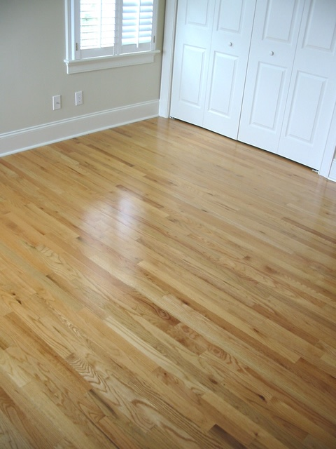 Red oak with water based finish next house floors for Natural red oak floors