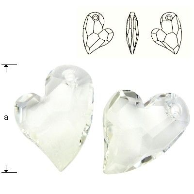 6261 Devoted 2 U Heart 17mm Crystal  Dimensions: 17,0 mm Colour: Crystal 1 package = 1 piece