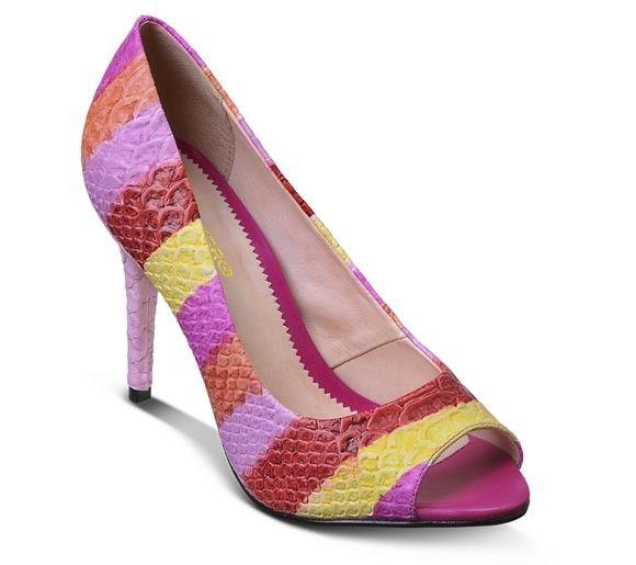 Sapato pee toe em couro croco | Sapatos | Bottero Calçados