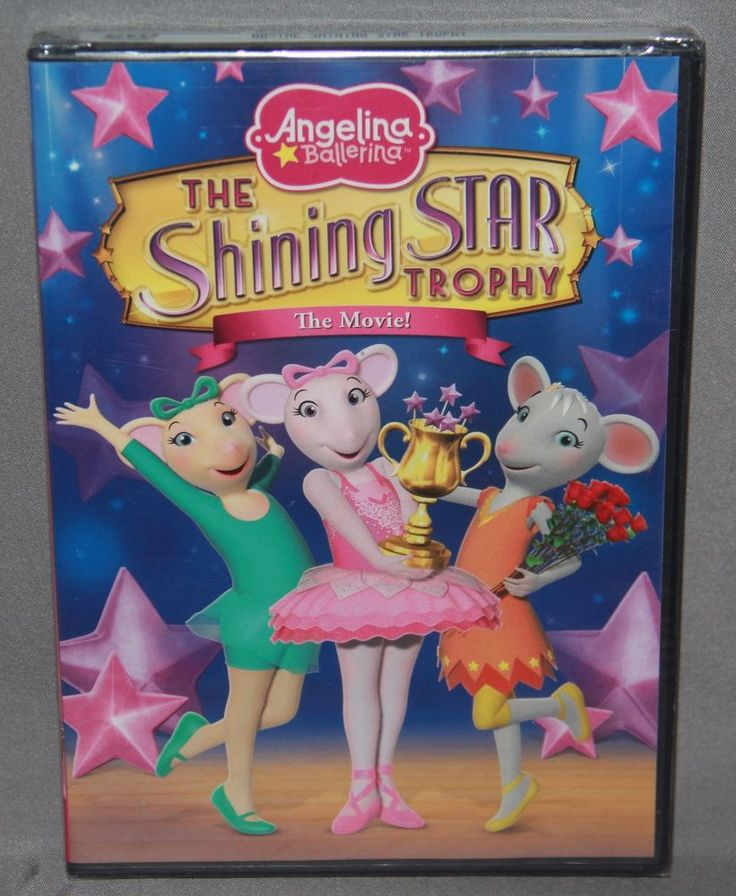ANGELINA BALLERINA THE SHINING STAR TROPHY DVD - BRAND NEW & FACTORY SEALED