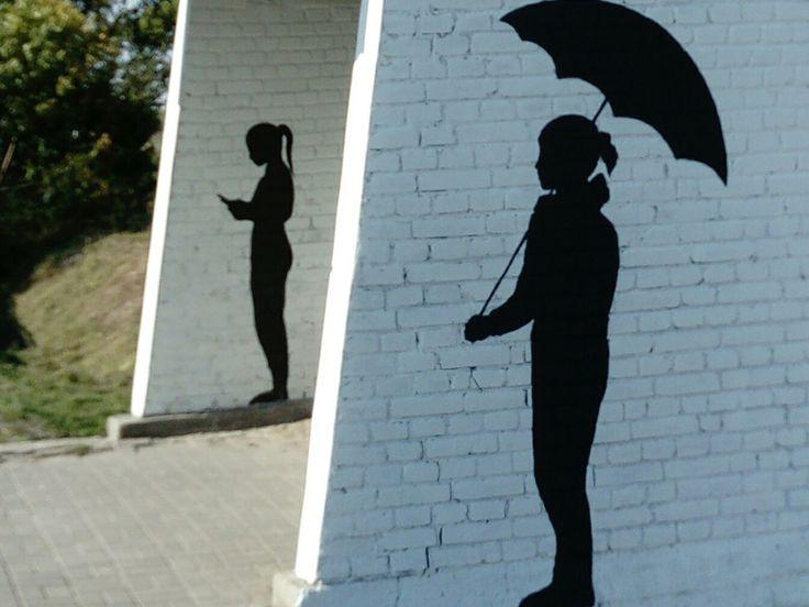 Mural, przystanek Zbuczyn, wspólnie z Przemkiem, Pauliną i młodzieżą z Pracowni Plastycznej, Bartek, Igor, Rafał, Janek #streetart in Poland