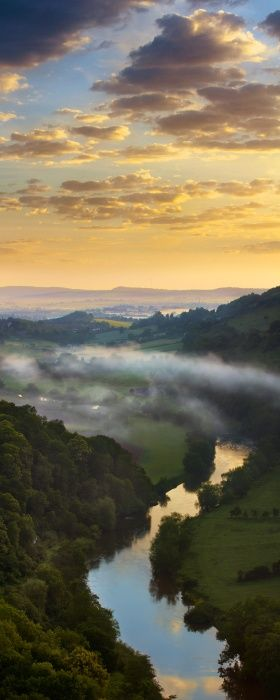 Wye Valley ~ on the border of England and Wales, by Richard Crompton