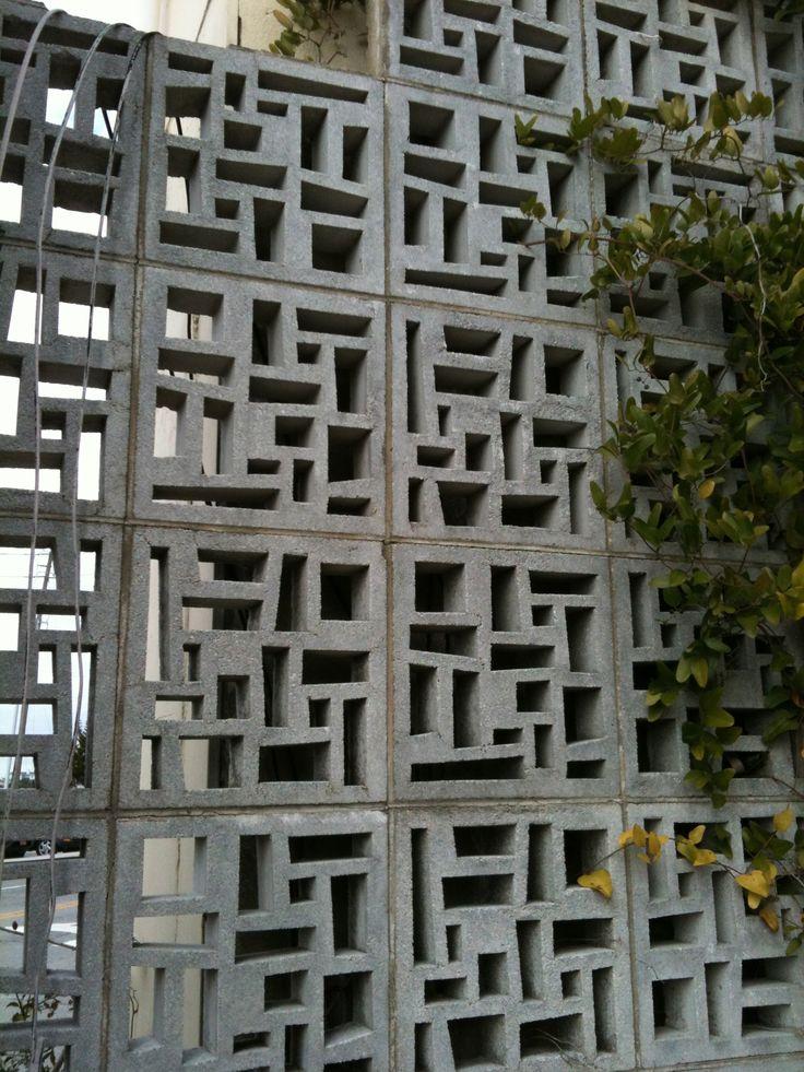 Cool concrete blocks bloques ornamentales pinterest for Decorative block wall designs