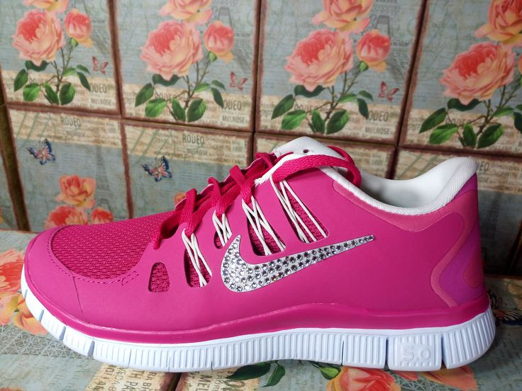 Last pair size 8 in sale womens nike free 5 0 run shoes purple color white  sole blinged with swarovski crystals best sale in nike shoes