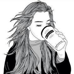 art, peintres, noir, noir et blanc, dessiné, dessin, sourcils, yeux, mode, fille, grunge, cheveux, coifure, ongles, équipement, style, Tumblr