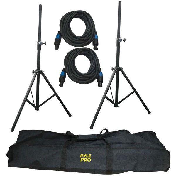 Pyle PMDK101 Heavy-Duty Pro Audio Speaker Stand & Speakon Cable Kit
