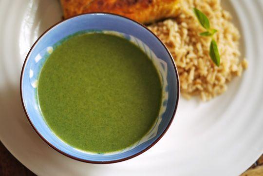 Recette Potage aux épinards et lait de coco
