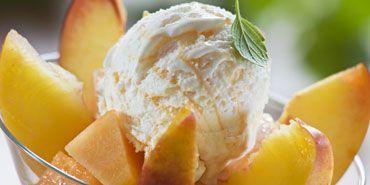 Farmer's Market Peach Ice Cream