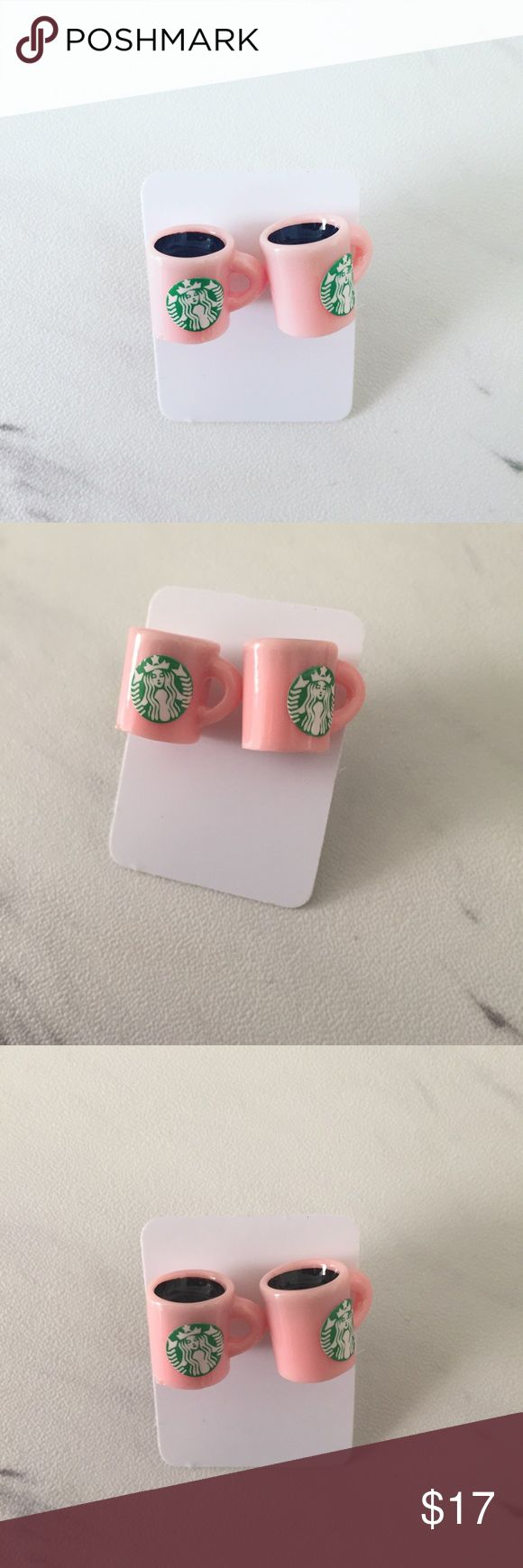 Starbucks Coffee Earrings Pink Starbucks Coffee earrings are perfect for yourself or the raspberry mocha addict in your life!   All Pineapple.PalmBeach jewelry and hair pins come packaged on crisp white packaging and tucked carefully into white chiffon pouches ready for you or a friend to enjoy!  Bundle discount available!  🍍Suggested User! 🍍5 Star Rated Seller! 🍍Same or next day shipper! 🐶Pet friendly 🚬Smoke-free 🚫No trades ❌No half price offers Pineapple.PalmBeach Jewelry Earrings