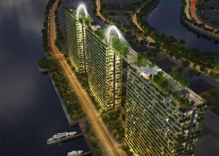 """Diamond Lotus salah satu apartemen di Jakarta yang memperhatikan konsep """"green"""" pada banyak bagian."""