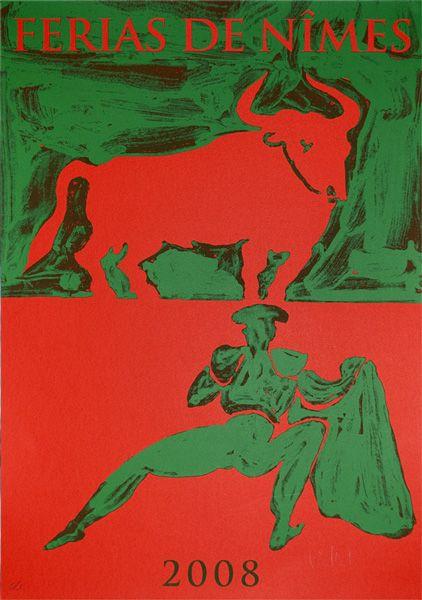 Féria de Nîmes - Affiche 2008 - Artiste Claude Viallat