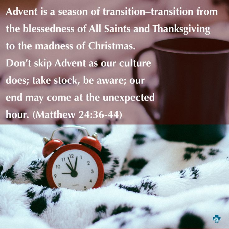 Today is the first Sunday of Advent. The gospel reading is Matthew 24:36-44. #10secondsermon