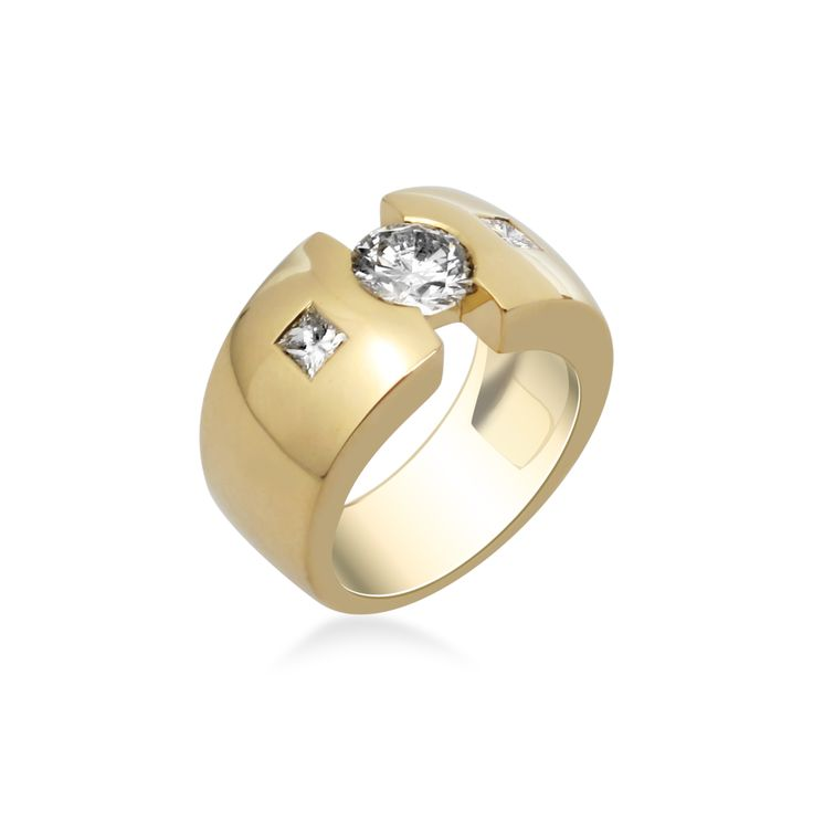 """Bague de fiançailles """"Tribeca diamant""""  Compagnie des Gemmes"""