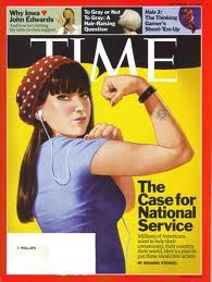 This Time cover was released when I was an AmeriCorps member... Rosie imagery + National service = very happy jbuu.