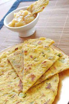 Receta de pan de garbanzos con especias de la India, Missi Roti   https://lomejordelaweb.es/