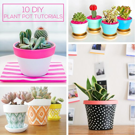 With the new trend for plants taking the UK by storm, I thought I'd share some gorgeous DIY painted plant pot tutorials from around the web that you can easily create in a weekend. Dress up your outdoors or indoors using simple terracotta pots - with a little paint and some creativity, these are so simple to do.