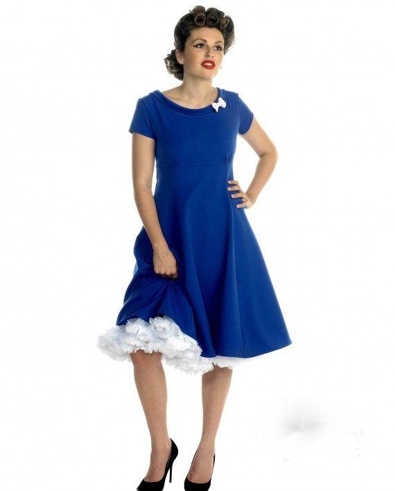 Hulahup Royal Blue Swing Dress - Miss Vintage
