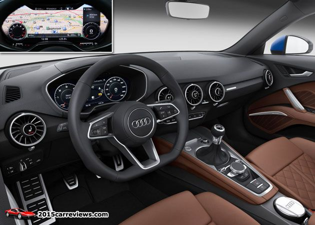 The interior of the new Audi TT. The 2017 Q7 will probably have the same design. It will feature the Virtual Cockpit technology.