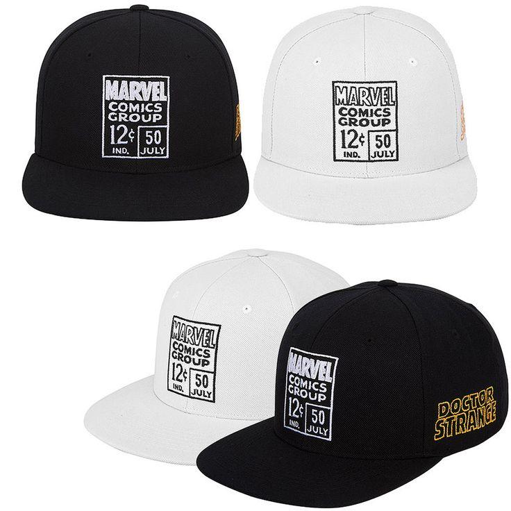 Mens Marvel Comics Avengers Civil War Doctor Strange Baseball Snapback Hats Caps #Marvel #BaseballSnapbackCapHats