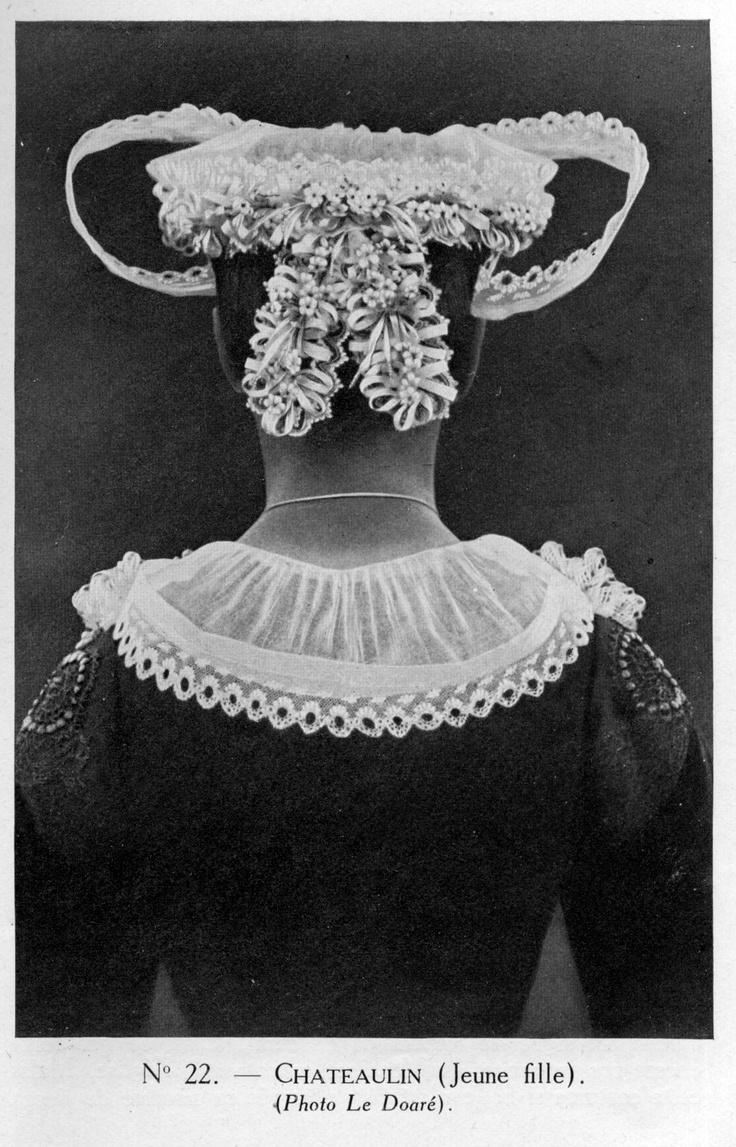 Costume & coiffe de Châteaulin  Finistère Bretagne