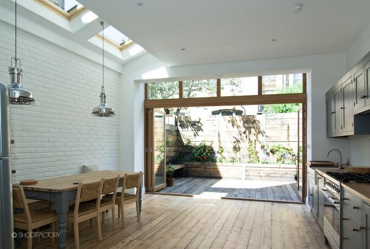 Open plan kitchen diner  London Location House - Burma - SHOOTFACTORY