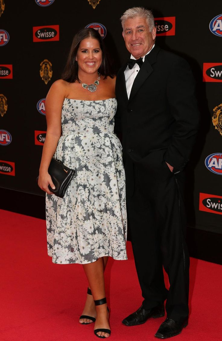 Former Brownlow medallist Gerard Healy arrives with Lisa Healy on the red carpet for the 2015 AFL Brownlow Medal presentation held at Crown Casino on Monday, September 28, 2015, in Melbourne, Victoria, Australia. Picture: Tim Carrafa