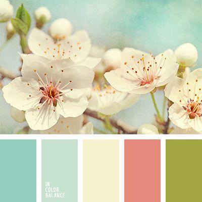 color beige, color crema, color durazno, color rosa melocotón, color verde hierba, colores estilo shabby chic, colores para decorar una boda, combinación de colores para primavera, crema y turquesa, melocotón y turquesa, paleta de colores para boda, paleta de colores para primavera,
