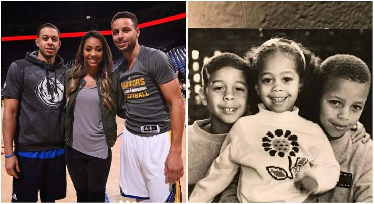 Wardell Stephen Curry with sister and brother