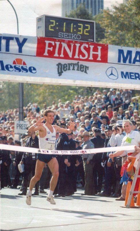 "New York City Marathon 1985, 27 ottobre. Orlando Pizzolato (1958), 2h11'32"""