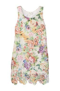 Printed Floral Dress (Little Girls)