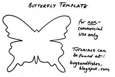 Mariposas de Papel en el interior. Modelo de mariposa (11) (400x267, 42Kb)