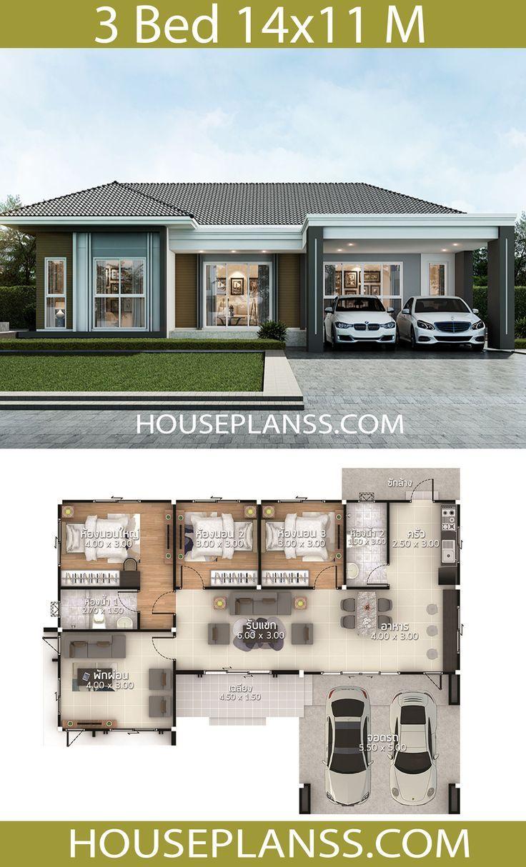 Models House Little House Plans House Floor Plans Modern Bungalow House
