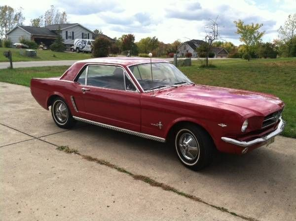 1965 mustang, 289 V8 automatic with 89k original miles on it. Has a 4b Holly carb. Everything else is all original right down to the tranny. Has new wires, seat-belts, tires, brakes, rear speakers, shocks, aftermarket floor gauges, and a new choke cable in the cab. Dual exhaust. Everything about this car is awesome. Runs, drives, stops, starts. The choke cable lets it start on cold days since its not fuel injected. Has manual steering and manual brakes.