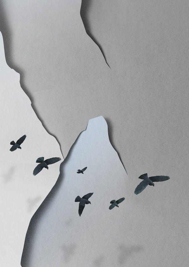 El efecto del papel en las ilustraciones de Eiko Ojala