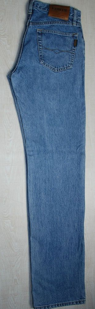 VINTAGE EDWIN JEANS NASHVILLE STRAIGHT FADED BLUE STONEWASHED MOM W29 30 L34