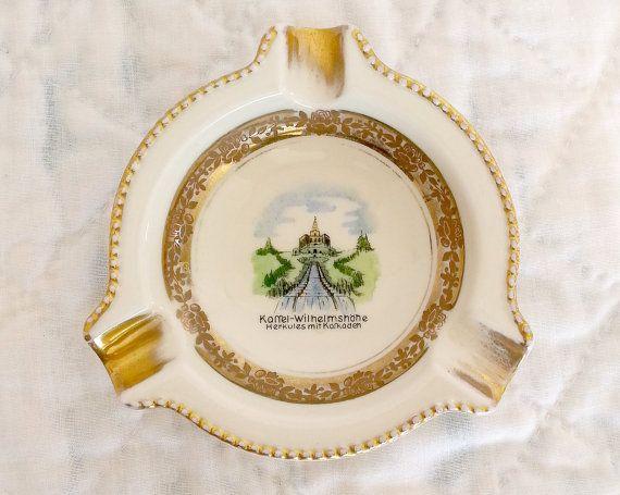 Vintage Porcelain Souvenir Ashtray Made By by VintageOutLoud