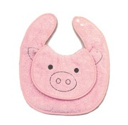 [ZAKKA SHOP Shinzi Katoh Collection]super soft baby bib [pig]