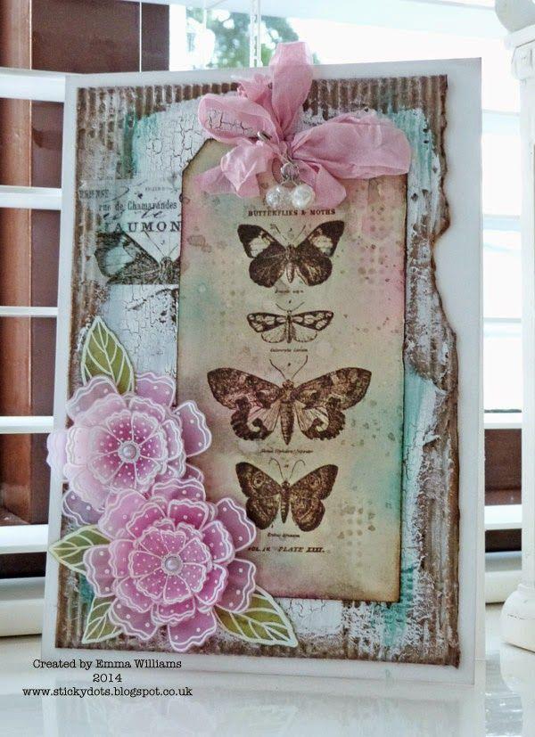 That's Life: Happy...Papillon stamp set http://stickydots.blogspot.com/2014/05/happy.html