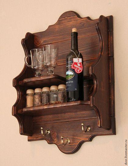 Полка в стиле Maggi Massimo - коричневый,мебель под старину,полка под старину