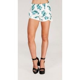 Printed  Shorts W/Thick Trims
