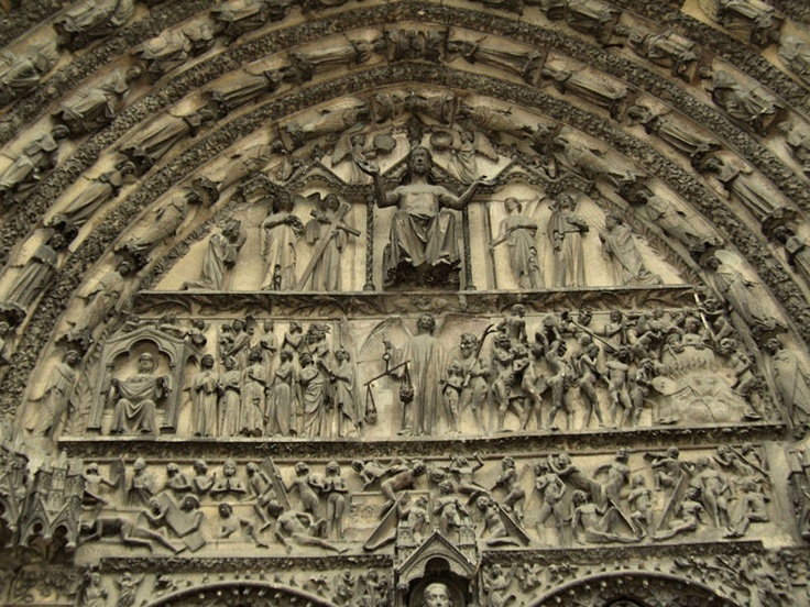 Bourges Cathedral, France. Exterior (tympanum)