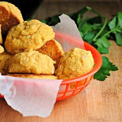 Baked Hush Puppies   *Made with cornmeal and WW Flour... I must try these!*